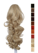 Prettyland - 60cm Ponyteil Volume curly Fashionable Clip in Hair Piece Extension- BL20 light ash blond