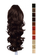 Prettyland - 60cm Ponyteil Volume curly Fashionable Clip in Hair Piece Extension- OW083 brown