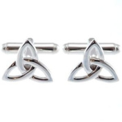 Sterling Silver Celtic Trinity Cufflinks With Gift Box