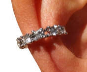 Really Stunning Crystal Silver Wrap Around/Clip on Ear Cuff Statement Earrings