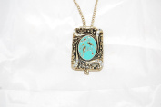 Vintage Style Cameo locket Bird Enamel Plating and Crystals Pendant necklace