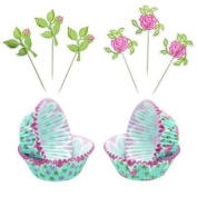Kitchen Craft Sweetly Does It Floral Patterned Cupcake Kit
