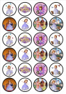 Sofia The First Edible PREMIUM THICKNESS SWEETENED VANILLA,Wafer Rice Paper Cupcake Toppers/Decorations