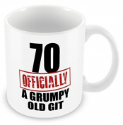 70 Officially A Grumpy Old Man Funny 70th Birthday Gift Mug