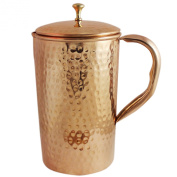 Indian Pure Copper Jug with Lid for Ayurvedic Healing, , Capacity 1.6 Litre