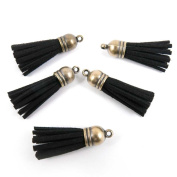 40 pieces Anti-Brass Fashion Jewellery Making Charms KD001 Black Tassels Wholesale Supplies Pendant Craft DIY Vintage Alloys Necklace Bulk Supply Findings Loose