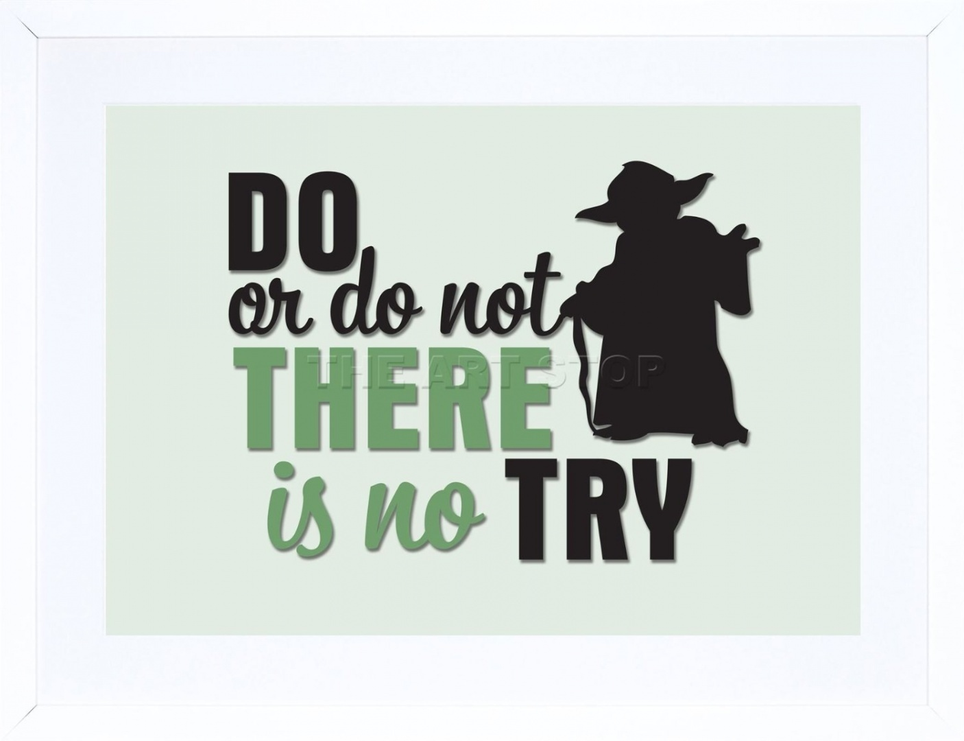 23cm X 18cm Do Or Not No Try Yoda Quote Typography Framed Wall Art