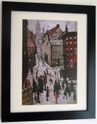 "Lowry Black Framed Print / Picture ""Berwick Upon Tweed"""