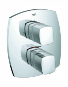 GROHE 19948000 Grandera Thermostatic Bath Mixer Trim Set with Integrated 2-way Diverter - Chrome