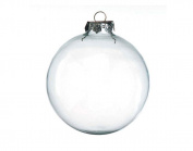 2 Giant Glass Ball Christmas Bauble Ornaments - 100mm