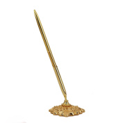 Alloy Wedding Reception Guest Pen with Stand Gold