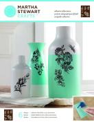 Plaid Enterprises Inc. Martha Stewart Glass Silkscreen English Garden