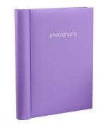 Arpan Self Adhesive Photo Album 36 Sheets 72 Sides Spiral Ring Binder - Pastel Purple