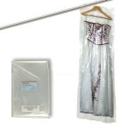 "Hangerworld Pack of 30 Clear Polythene Garment Dress Trouser Garment Clothes Cover Bags - 60"" (152.4cm) 100 Gauge"