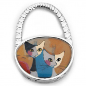 Black White Blue Folding Foldable Cat Handbag Bag Purse Table Hook Hanger Holder