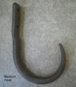 Black Wrought Iron Butcher's Meat and Game Hooks