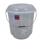 High Quality Small 7 Litre Clear Plastic Bucket Bin with Lid