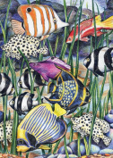 Mini Colour Pencil By Number Kit 13cm x 18cm -Tropical Underwater Life