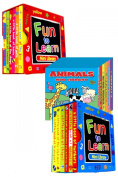 Mini Library Board Books - Bumper End of Season Sale - Special Bumper Gift Pack for Toddlers, Children, Babies - 2 x Fun to Learn Board Book Sets - Red & Blue - Animals Board Book Mini Library - 18 Board Books Collection Set - RRP £15.96 - Yours ..