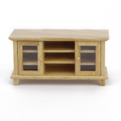 1:12 Doll House Miniature Furniture Wooden TV Cabinet