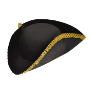 Tricorn Felt W/Gold Trim Partypackage B Dress Up Hats | Party Photo BoothAccessories | All Themes