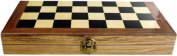 3 in 1 Folding 29cm Wooden Chess Backgammon Draughts Checkers Set