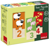 Jumbo Diset Goula Numbers 1-10 Duo Wooden Puzzles