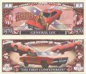 Novelty Dollar The Dukes of Hazzard General Lee Million Dollar Bills x 4 Bo Luke Dodge Charger