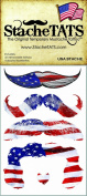 StacheTATS The USA Temporary Moustache Tattoo