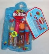 Bonne Bell Lip Smacker Skittles Tropical Lip Gloss Collection 4 Pieces in Zippered Pouch