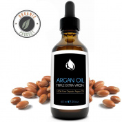 Moroccan Argan Oil For Nails, Hair, Face, and Body, 100% Virgin Pure Organic, Benefits Included in. E-Book Guide, Non-comedogenic Serum for Acne, Age Spots, Stretch Marks, Wrinkles, and More, Tangible Results Seen Within 10 Uses Backed by Gua ..