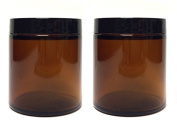 Amber Glass Straight Sided Jar - 120ml
