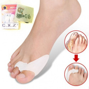 C.X.Z® Gel Silicone Bunion Corrector Adjuster Big Toe Care Separators Spreaders Splint Pad Thumb Valgus Protector Straightener Foot Posture Spreader Pain Relief - Upgraded 2nd Version - 1 Pair (2pcs) Unisex