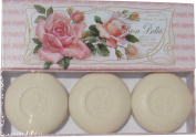 Saponificio Artigianale Fiorentino 'Rosa Bella' Beautiful Rose Scented Soaps Set of 3 160ml Round