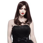 Fashion New Wigs, Long Dark Brown Wigs for Women, Long Natural Stright Synthetic Hair Wigs 5091