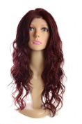 Long Damson Curly Lace Front Wig | Plum Shade | Bodywave curls