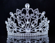 Janefashions Miracle Clear Austrian Crystal Rhinestone Tiara w/ Hair Combs Crown Prom T11890