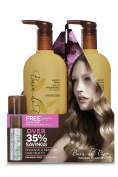 Bain De Terre Passion Flower Colour Preserving Litre Duo with Free Travel Size (50ml) Firm Finishing Spray