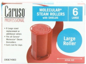 Caruso Professional Molecular Steam Rollers with Shields, Large (6-Pack) by Caruso