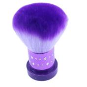 Popfeel® Purple Kabuki Face Brush Foundation Great for Blending Liquid, Cream & Mineral Cosmetics or Translucent Powder