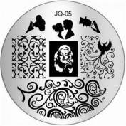 1Pc Good-looking Nail Art Stamping Decorations Image Stamp Multi Mix JQ-Series Type Code JQ05