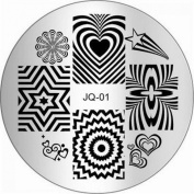 1Pc Exquisite Nail Art Stamping Easy Attach Decorations Image Stamp JQ-Series Type Code JQ01
