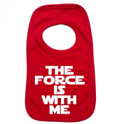 THE FORCE IS WITH ME PULLOVER BABY BIBS – Doubled Layered - (Red) - 100% Cotton Baby Newborn Toddler Perfect Gear Clothing Boy Girl Mum Dad Mummy Daddy Grow Gift Custom Present Birthday Christening play toy Cute – Machine Washable– by 123t