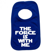 THE FORCE IS WITH ME PULLOVER BABY BIBS – Doubled Layered - (Royal Blue) - 100% Cotton Baby Newborn Toddler Perfect Gear Clothing Boy Girl Mum Dad Mummy Daddy Grow Gift Custom Present Birthday Christening play toy Cute – Machine Washable– by Fonfella