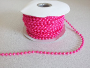4mm Fuchsia Faux Pearl Beads on a String - MOT Beads - 24 Yards
