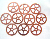 Steampunk Watch pieces and parts Clock gears - 10 Large copper Gears Cogs Wheels 25mm