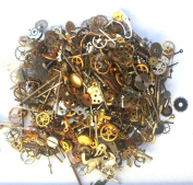 Steampunk Watch Parts and pieces - 30g of LOTS of TEENY TINY vintage and antique gears, cogs, wheels, hands, crowns, stems, etc.