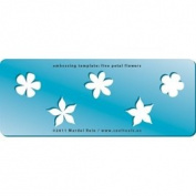 Cool Tools - Embossing Template - Five Petal Flowers