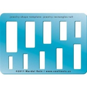 Cool Tools - Jewellery Shape Template - Jewellery Rectangles Tall