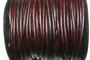 3 Mm- Round - Leather Cords - * High Quality * - 25 Metres Per Spool - Dyed Colours (Dyed Antique Brown